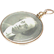 Antique Edwardian 18k 18ct Gold Double Sided Photo Locket Pendant