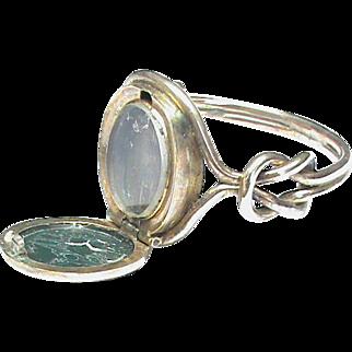 Antique Victorian 9k Gold Agate Poison Locket Seal Signet Ring