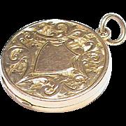 Antique English 1912 9k 9ct Gold Locket Pendant