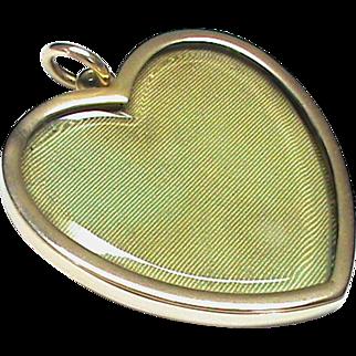 LARGE Antique Victorian 10k 10ct Gold Heart Locket Pendant