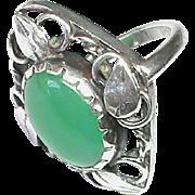 Vintage Arts & Crafts Chalcedony Ring attr Gladys & Charles MUMFORD