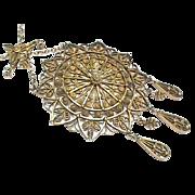 Large Antique Silver gilt 830 Norwegian Necklace
