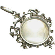 Antique French Silver 800-900 Marcasite Locket Pendant