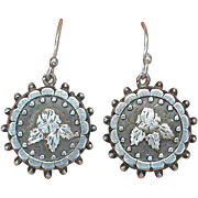 Antique Victorian Sterling Silver 1882 Earrings