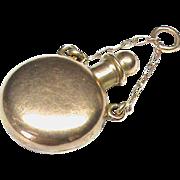 Antique Miniature Victorian 9k 9ct Rose Gold Scent Bottle Charm Pendant