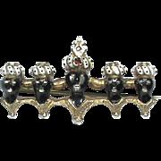 Antique Victorian Silver & Enamel Blackamoor Brooch