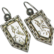 Antique Victorian Sterling Silver Earrings
