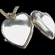 Antique Victorian Gold Fill Heart Locket Pendant Necklace