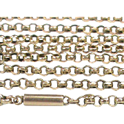 "Antique Victorian c1900 9k Rose Gold Chain 18.5"" 4.1g"