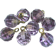 Antique Victorian Amethyst Buttons