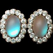 Large Victorian Saphiret & Paste Earrings
