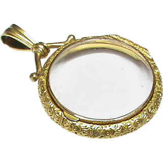 QUALITY Antique Victorian c1900 15k 15ct Gold Double Sided Locket Pendant