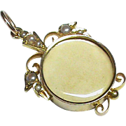 Antique Victorian 15k 15ct Gold Seed Pearl Locket Pendant
