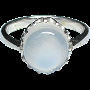 Vintage Art Deco Sterling Silver Moonstone Ring