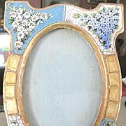 Exquisite Vintage Florentine Italian micro Mosaic Picture Frame