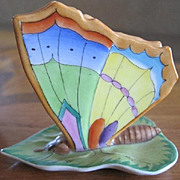 Charming Herend Hungarian porcelain handpainted butterfly card holder