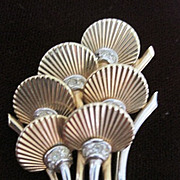 Amazing Boucher set consisting of figural pin and matching clip earrings
