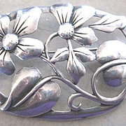 Nice raised Sterling figural Forget Me Not pin
