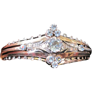 Antique 14k yellow and white gold bracelet set with 48 diamonds and 1.58 natural aquamarines with appraisal