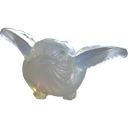 Tiny French Sabino luminous baby bird art glass figural