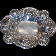 Art Nouveau silver quadruplate floral bowl by Barbour Silver & Co
