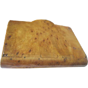 Beautifully handmade birch burl cigarette box made in the Soviet Union