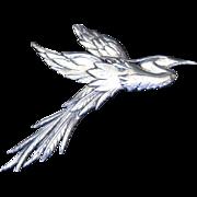 Vintage Sterling Danecraft flying heron pin by Victor Primavera