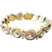 English Victorian 10k yellow gold bracelet set with 0.25 diamonds  weighing 9.6 grams