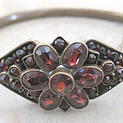 Vermeil late Victorian Garnet bangle bracelet