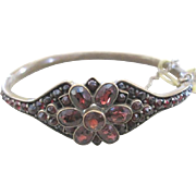 Vermeil late Victorian Garnet bangle bracelet