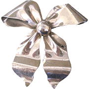 Large Vintage Napier Sterling bow PIN with a rose gold plated finish