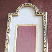 Elaborate Victorian Bronze dore Enamel Champleve Picture Frame