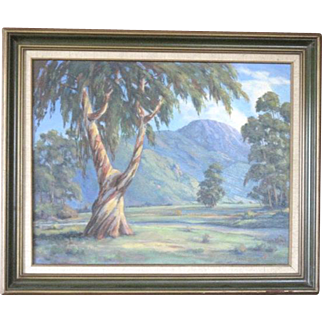 Vibrant Sonoma Valley landscape by artist George Horsburgh