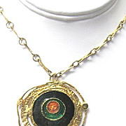 Groovy Man! 1960's Mod necklace and pendant in Sputnik style