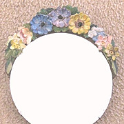 Large vintage English Barbolla beveled mirror with free standing easel