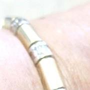 Art Deco 14k yellow gold 19.7 grams line bracelet set with 2.80 tw carats baguette Diamonds G-H VS1-VS2