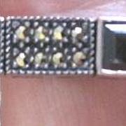 Vintage Judith Jack sterling onyx and marcasite line bracelet