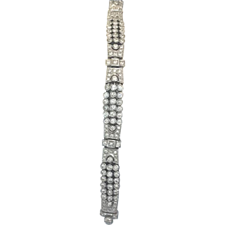 Art Deco 3.00ctw diamond bracelet set in platinum with G-H color recent appraisal available