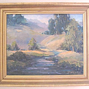 Jack London State Park oil on canvas painted by the late Joanne Matthews of Sonoma County, Ca.