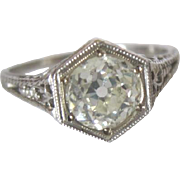 Make My Day with this beautiful Platinum and 1.16 DIAMOND engagement ring with appraisal