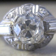 Marry Me with this ring. Platinum 4.1 grams and diamonds 1.84tw ring with Old World beauty