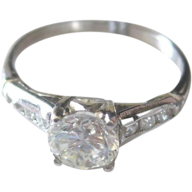 appraised vintage platinum and engagement ring in
