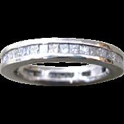 Vintage Platinum 7.33 grms Eternity wedding band with 1.72 carat tw Diamonds