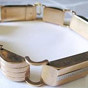 Ladies Retro 14k yellow gold link Bracelet
