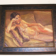 Nude portrait of  Olivia by California artist Sterling Hoffmann
