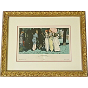 Framed French Gazette fashion plate 1914 L'INDISCRETE