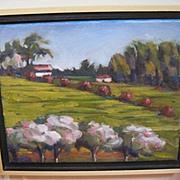 Back yard view by Somoma painter Paula Matzinger