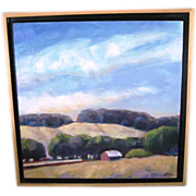 Oil canvas painting by Paula Matzinger of Tomales Farm