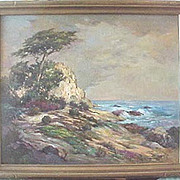 Florence Upson Young Seascape oil of Carmel California