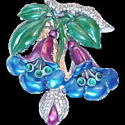 Vintage floral costume jewelry floral dress clip